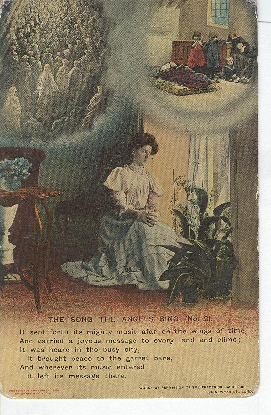 "World War 1 ""The Song The Angels Sing"" Story War Postcard"