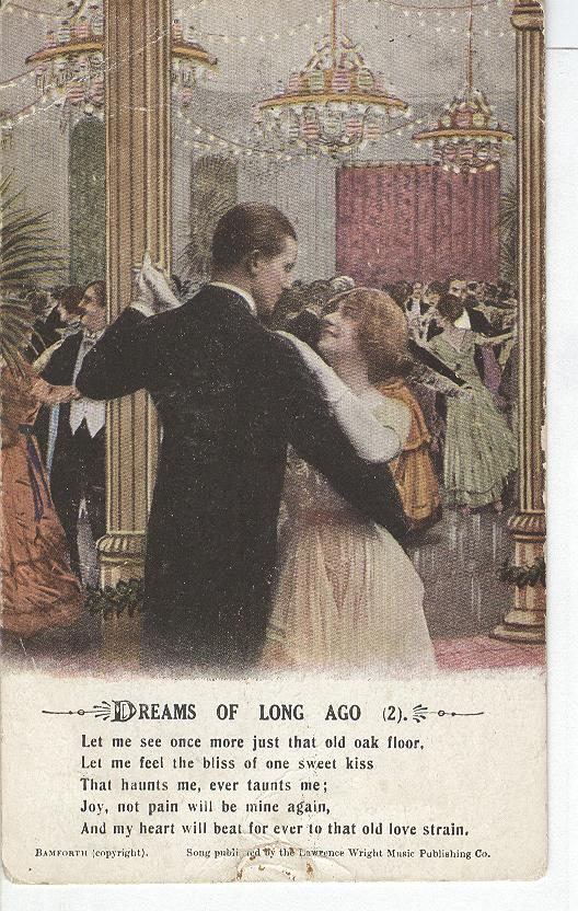 "Worl War 1 "" Dreams of Long Ago""-War Postcard"