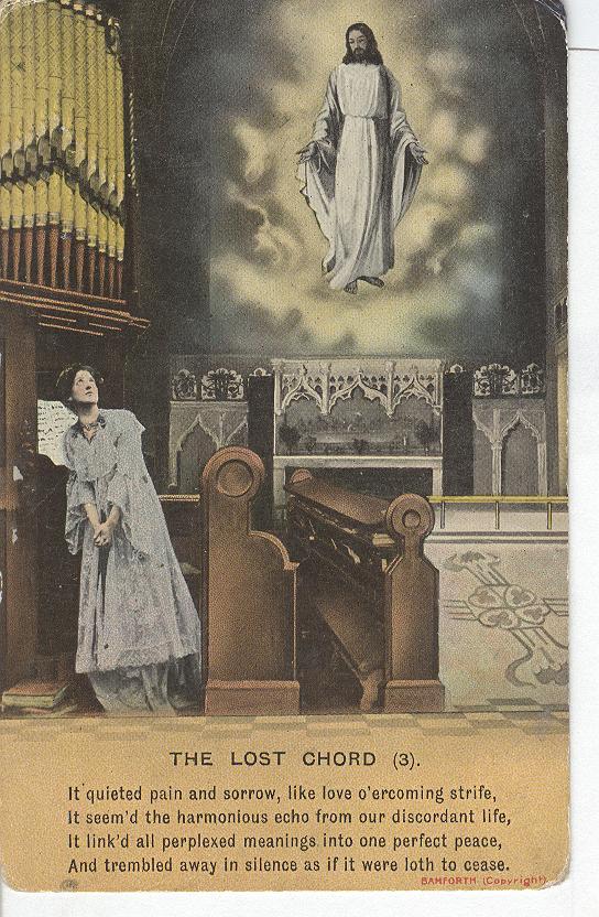 World War 1 The Lost Chord War Postcard 495