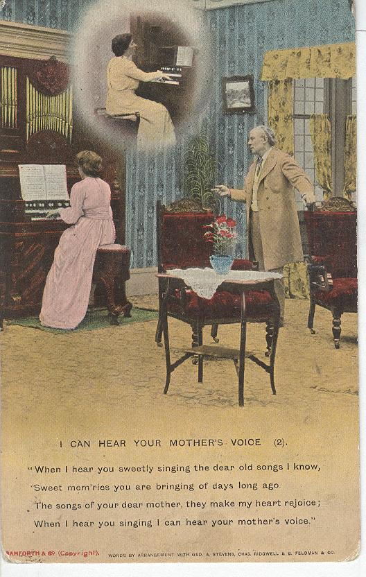 "World War 1 ""I Can Hear Your Mother's Voice"" Story War Postcard"
