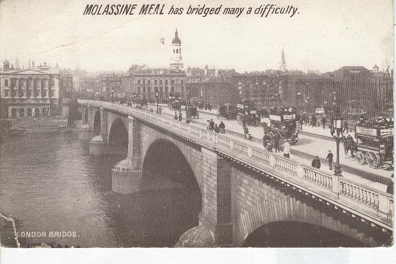 Molassine Meal has bridged many a difficulty London
