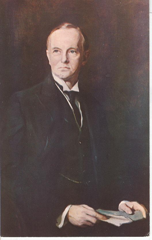Painted Portrait of the 13th President Calvin Coolidge