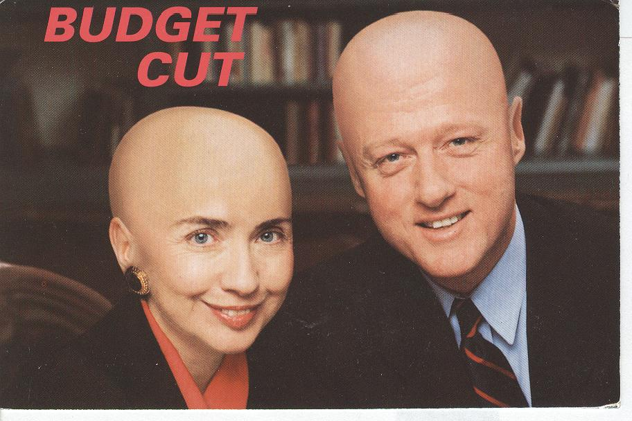 "Bill Clinton and Wife ""Budget Cut"""