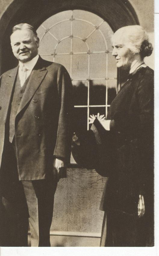 President Hoover and Mrs. Hoover at Their Home in Palo Alto, Ca