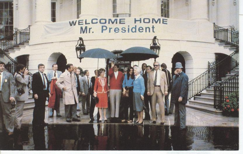 President Ronald Reagan...April 11th, 1981...Returning Home
