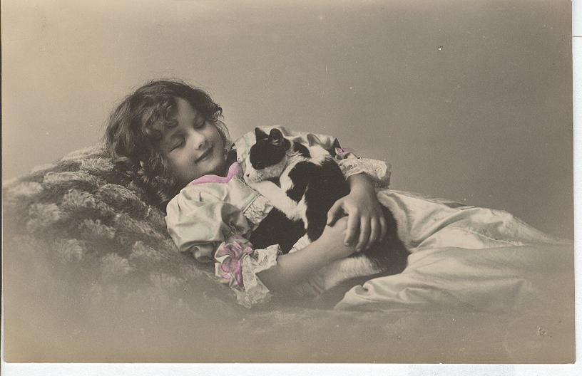 Glamour Girl Holding a Cat