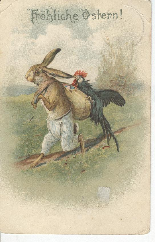 Easter German Greeting Postcard-Frohliche Ostern!!(Happy Easter)
