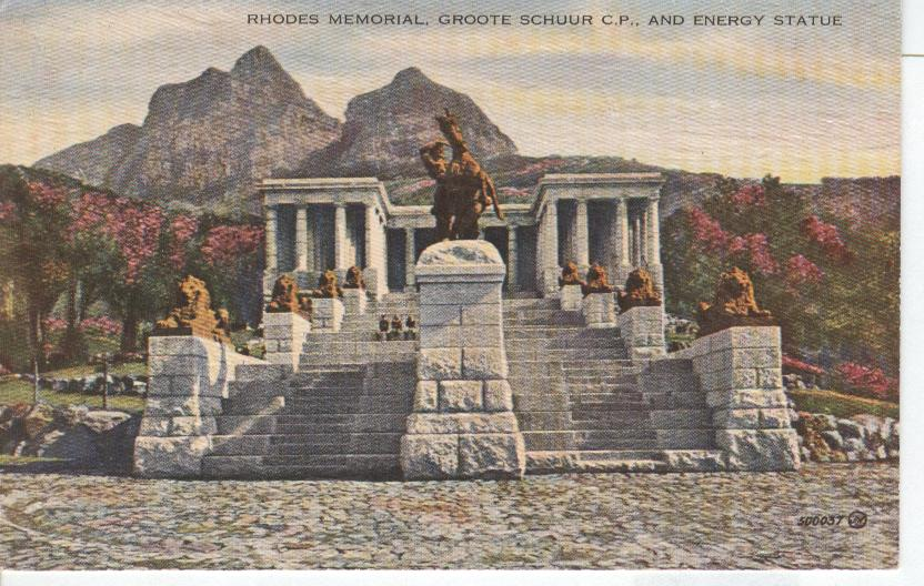 Rhodes Memorial Groote Shuur C.P. And Energy Statue Greece