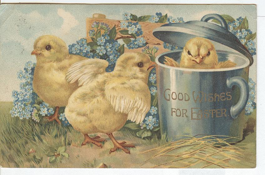 Easter Postcard - Good Wishes for Easter