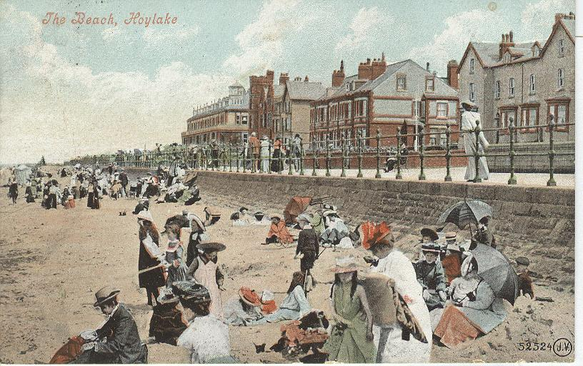 The Beach, Hoylake...England...Hotel Postcard