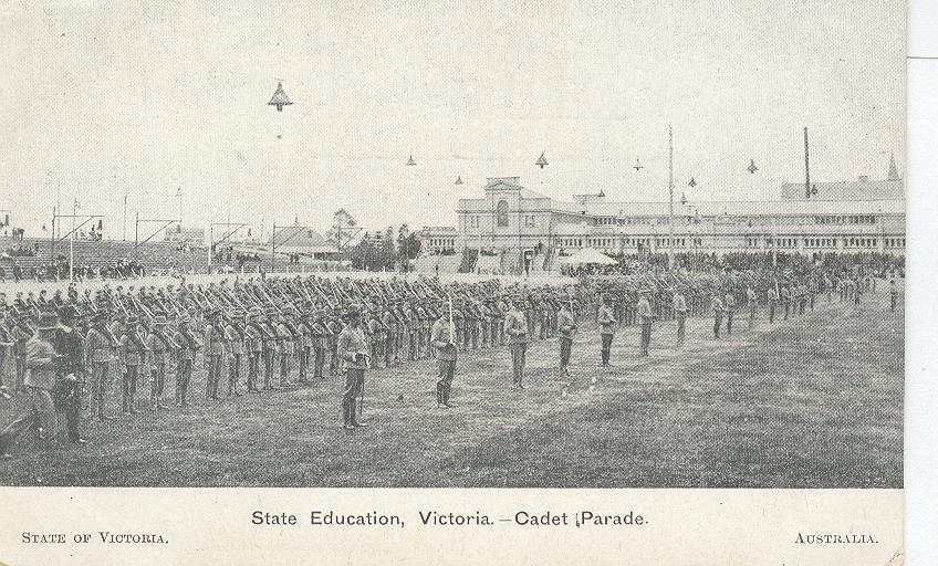 School...State Education, Victoria-Cadet Parade...England