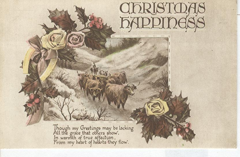 Christmas Happiness...Though My Greetings may be lacking all....