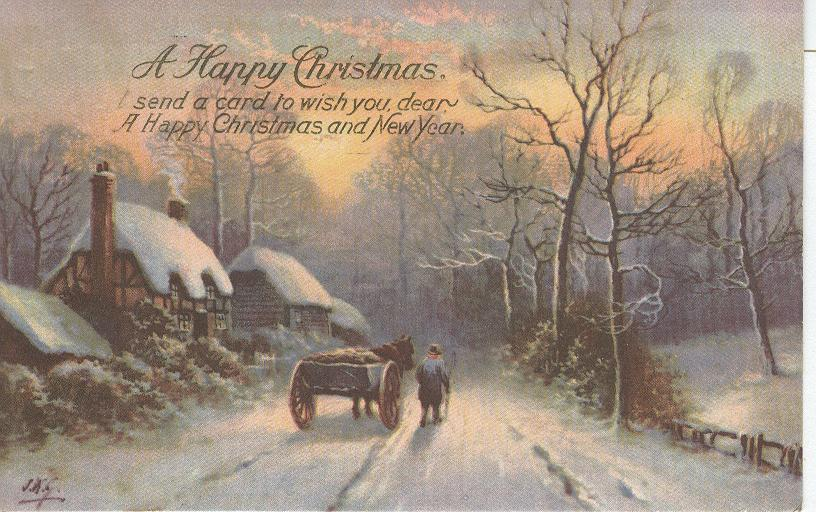 A Happy Christmas...I Send A Card To Wish You Dear....