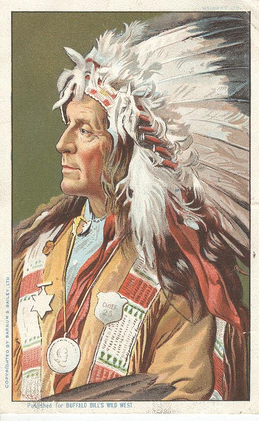 Indian With Feather Hat...Published for Buffalo Wild West 1904