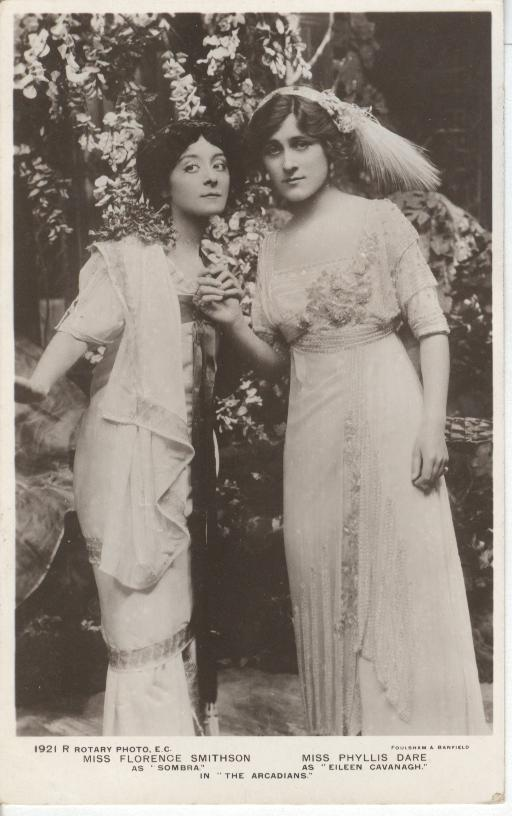 Miss Florence Smithson & Miss Phyliss Dare Postcard