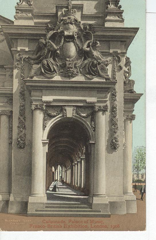 Colonnade, Palace of Music, Franco-British, Exhibition 1908