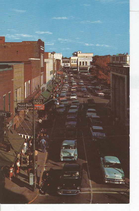 Downtown Shopping Area, Hickory NC 1950's