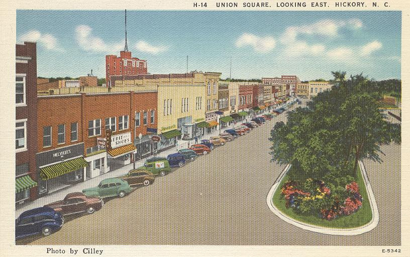 Union Square, Looking East, Hickory, NC