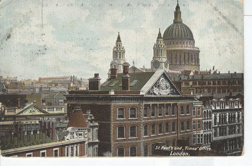 St. Pauls and Times Office..London...England