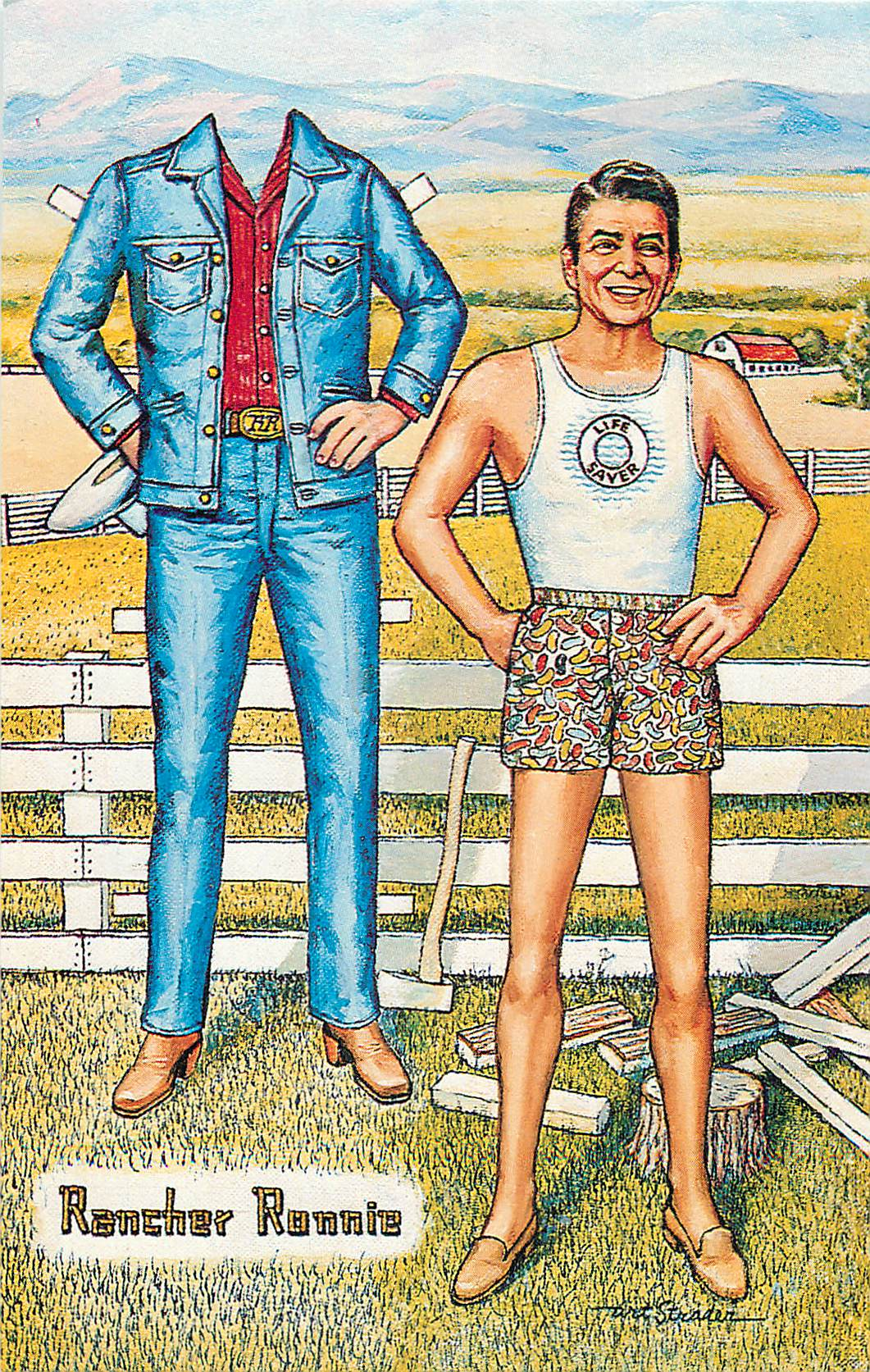 """Rancher Ron Paper Doll"""