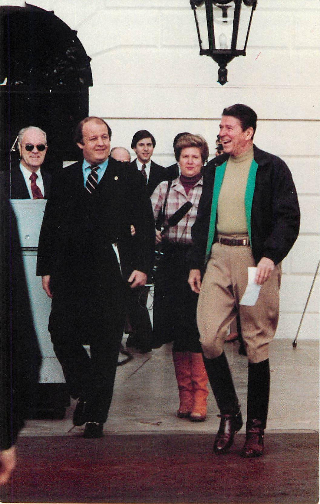 """President Reagan in Roughriding Attire"""