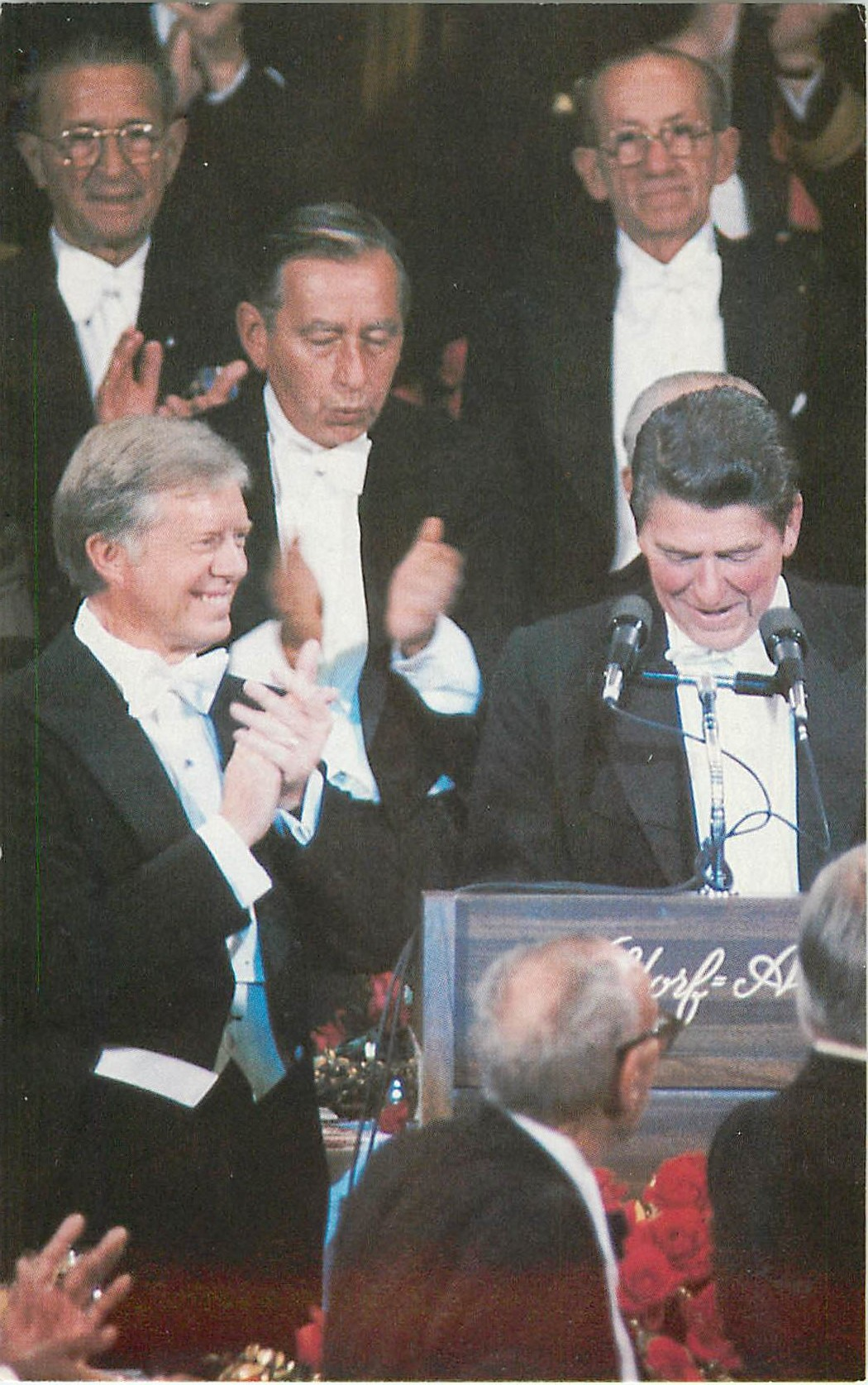 """Governor Reagan and President Carter"""