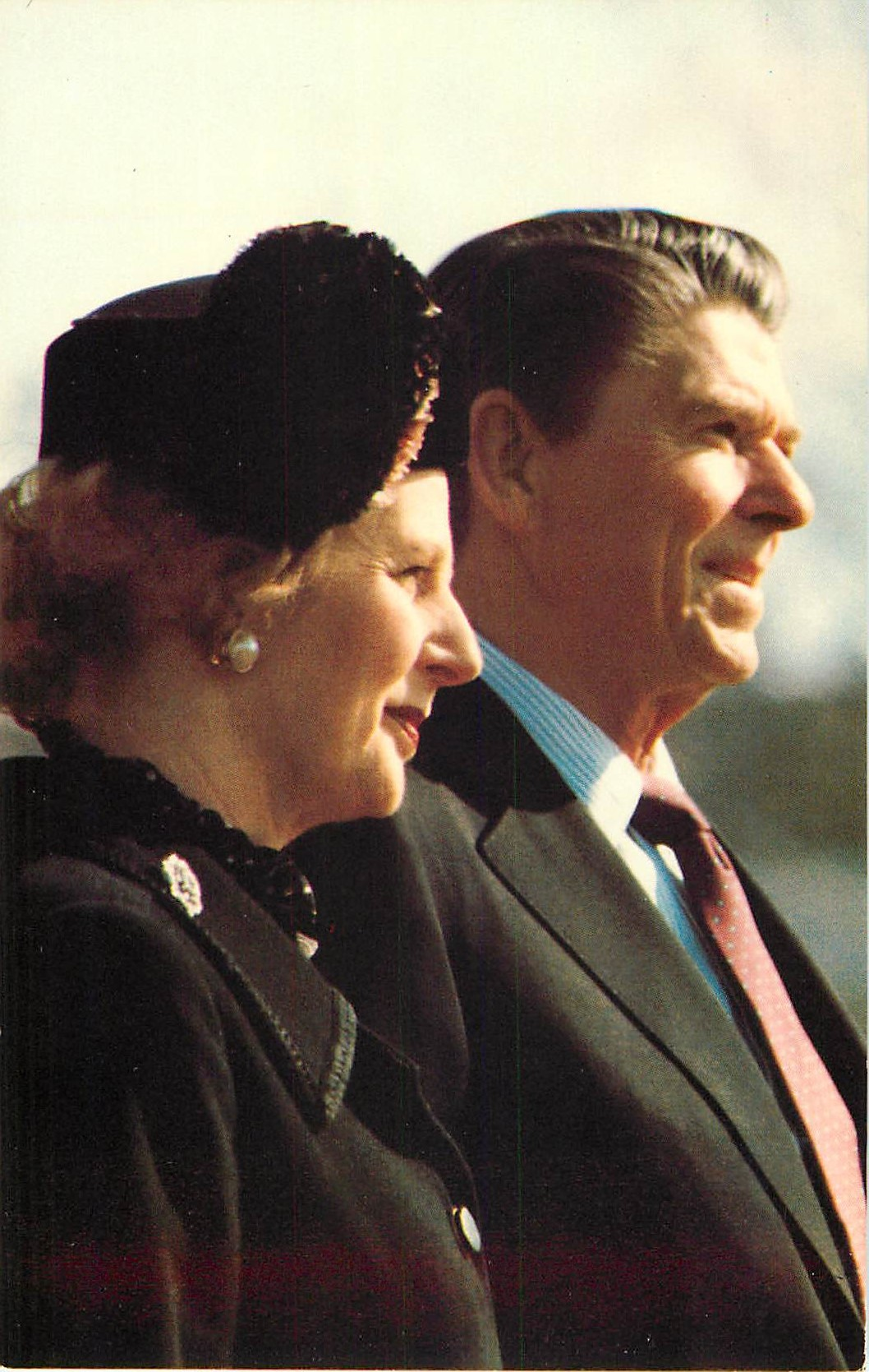 """President Reagan with Prime Minister Margaret Thatcher"""