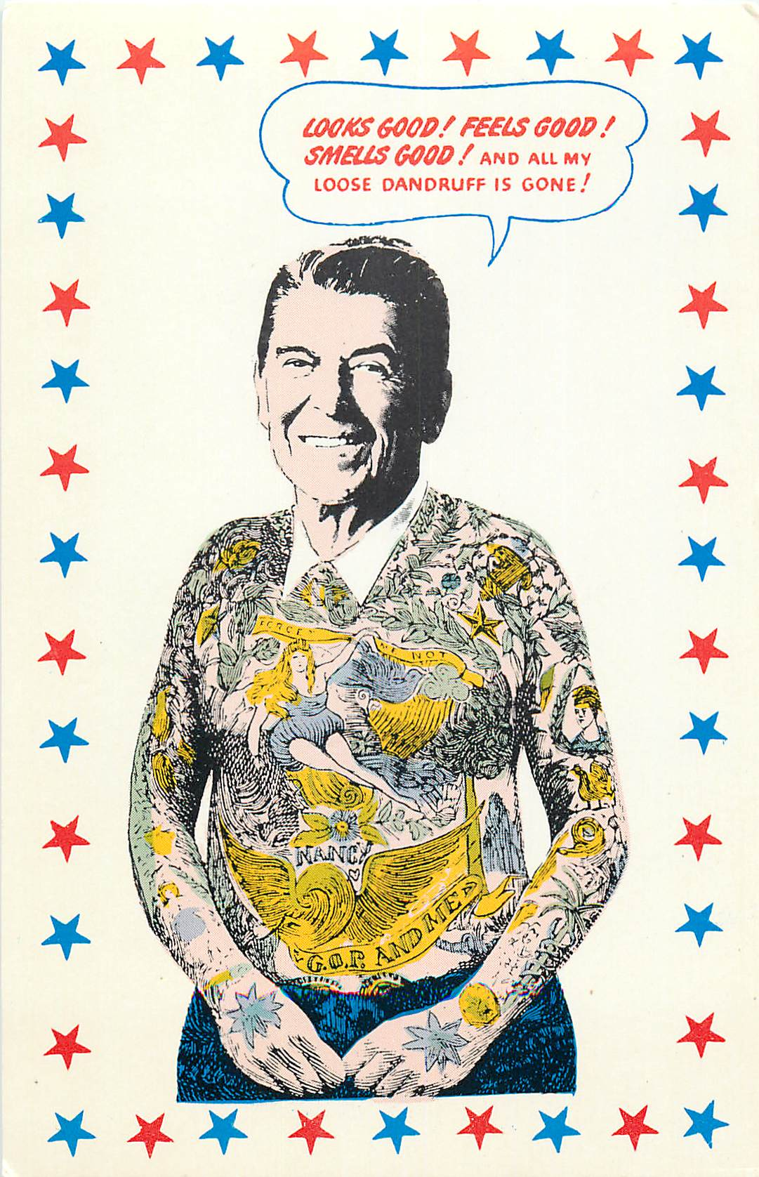 """Tattooed Ronald Reagan"""