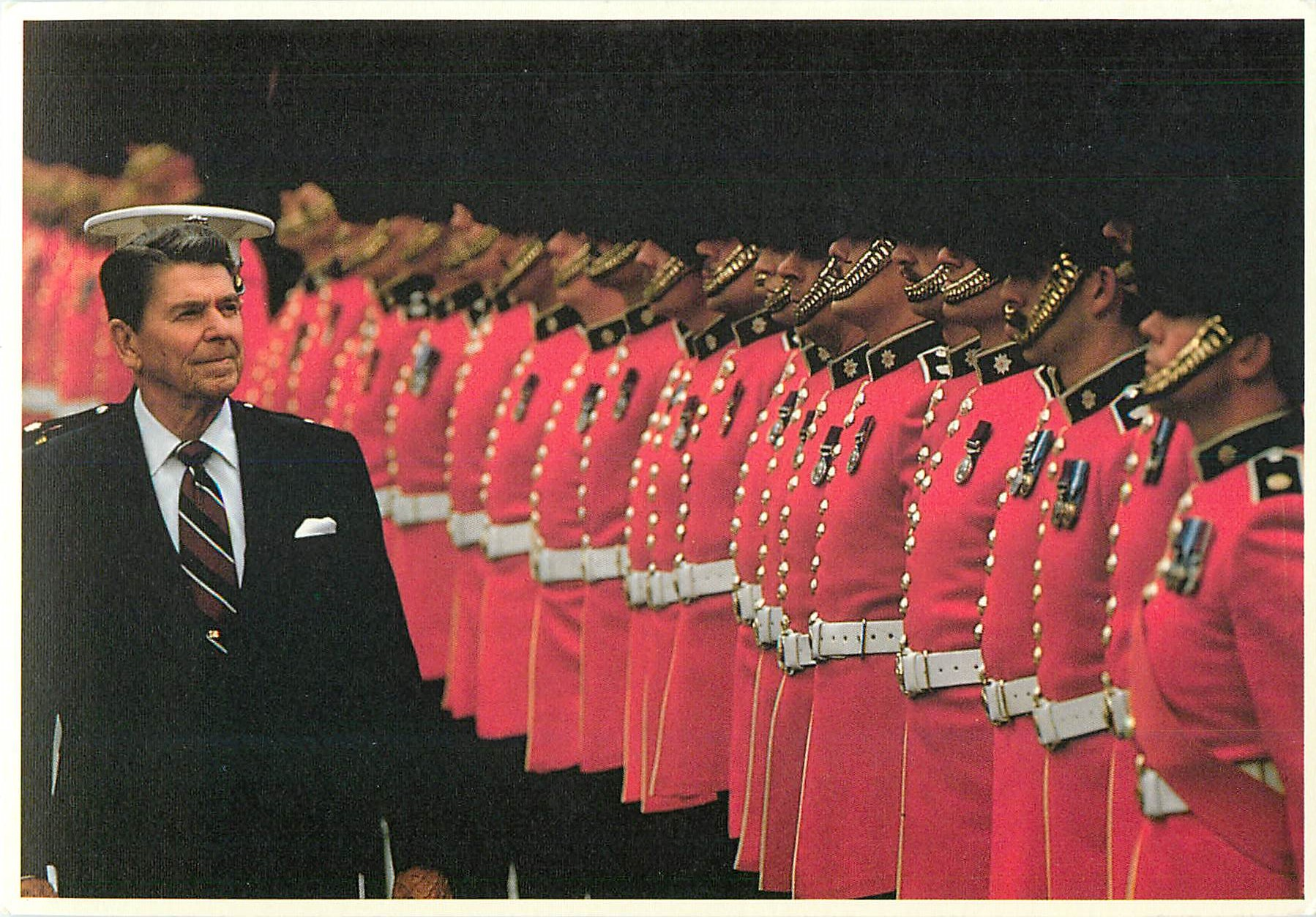 """President Reagan Inspecting the Troops"""