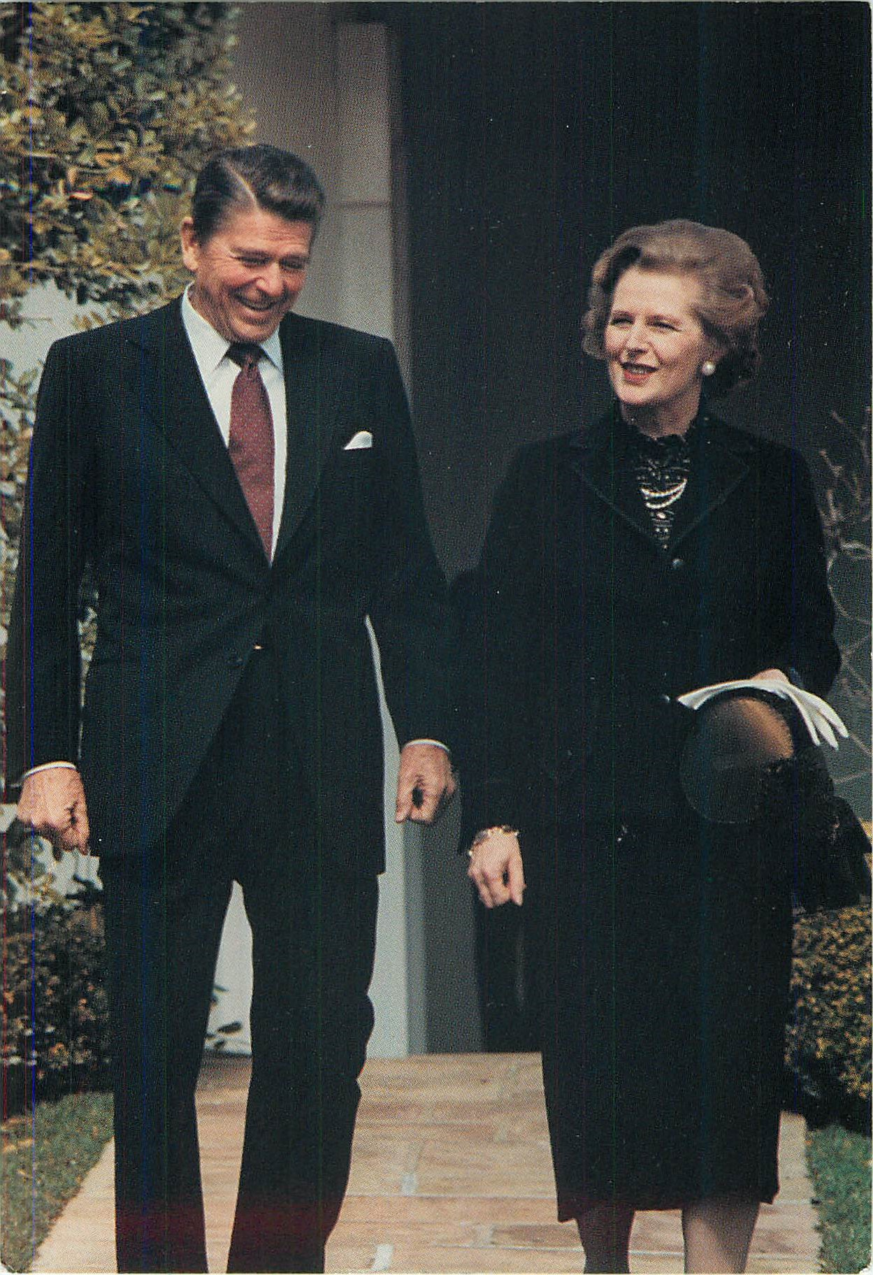 """Visiting with Prime Minister Margaret Thatcher"""