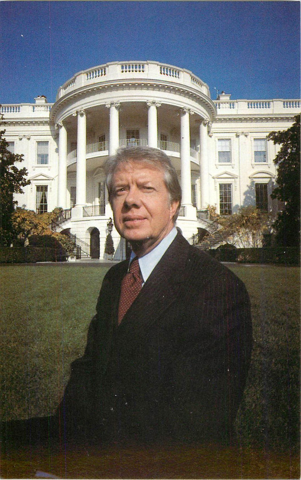 """Jimmy Carter on the South Lawn"""
